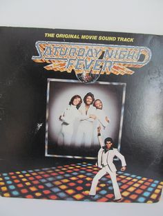 Vintage 1970 Vinyl Saturday NIght Fever-Stayin Alive-RSO Records-Bee Gees-Double Album