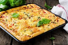 Deep Dish Pizza Casserole (Weight Watchers) Six servings/9 smart points per serving