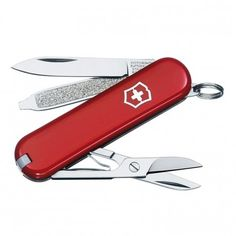 3d87b73d0cda The Classic SD Swiss Army Knife by Victorinox is the bestselling keychain  tool. From scissors to a nail file