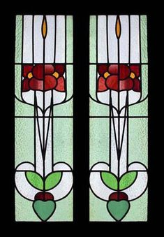 art noveau stained glass window - Hledat Googlem