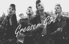Greaser Girl----@Jayci Sturgell   We have to do this one with candy cigs!!
