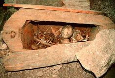 In the three gorges region of the Yangtse River, along a secret tributary, can be found the hanging coffins of Bawusia, placed there more than 2000 years ago.