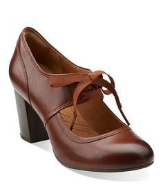 Take a look at this Cognac Town Cloak Pump - Women by Clarks on #zulily today!