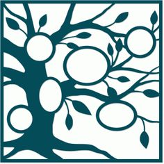 Silhouette Online Store - View Design #65400: family tree ovals placemat layout