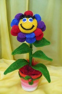 Flores de crochê.  Seleção de inspiração (29) (464x700, 207KB)