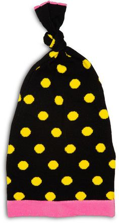 Yellow and Black Dot Girls Hat Izzy & Owie - Giggles Gear