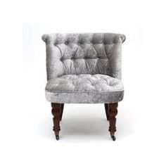 MDM Shannon Silver Crushed Velvet Chair. Available now at www.mdmfurniture.com