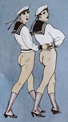 Berlin Gay Cabaret, ca 1922.
