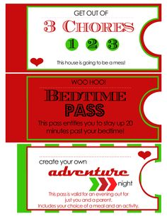Christmas coupons for kids - made for Advent Conspiracy last year Page 2 of 3
