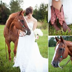 Farm Bridal Session by Rebecca Photography12 Bride with horse
