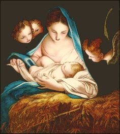 religious painting of Madonna with baby Jesus by Carlo Maratta.