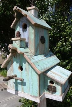 shabby chic birdhouse lovely                                                                                                                                                      More