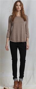 CUSTOMMADE - Birgita cashmere sweater sandshell