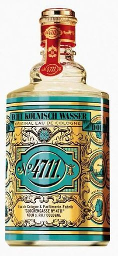 """Eau de Cologne de Citrus with traces of rosemary and lavender, a spicy, ethereal scent for men and women, 4711 originated in Cologne in 1792 as a monk's secret formula for invigorating, medicinal """"miracle water."""" This was Grandma's favourite perfume. My Childhood Memories, Sweet Memories, Childhood Images, 1970s Childhood, Organizer Makeup, 4711 Cologne, North Rhine Westphalia, Aqua, Turquoise"""