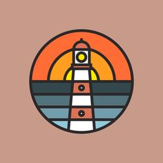 Bold Lighthouse - from @elloillustrations on Ello.