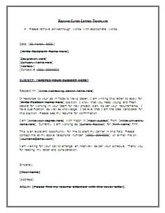 Cover Letter Template For Resume Free - http://www.resumecareer.info/cover-letter-template-for-resume-free-5/