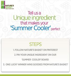 Tell us one 'Unique Ingredient' that makes your summer cooler perfect.