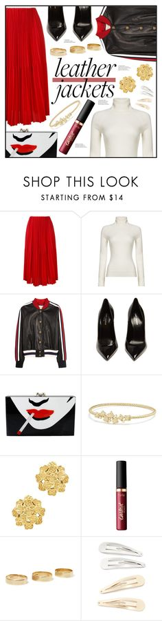 """""""Red Queen"""" by piloariass ❤ liked on Polyvore featuring Astraet, HUGO, Gucci, Yves Saint Laurent, Charlotte Olympia, David Yurman, London Road, tarte, Loren Stewart and Kitsch"""