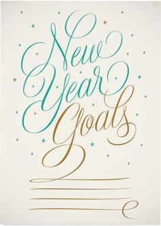 'New Year Goals' by Martina Flor for lettercollections.com