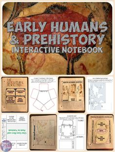 and Early Humans Interactive Notebook Early Humans and Prehistory Interactive Notebook! Includes 8 pages on the Paleolithic & Neolithic Eras!Early Humans and Prehistory Interactive Notebook! Includes 8 pages on the Paleolithic & Neolithic Eras! 6th Grade Social Studies, Social Studies Classroom, Social Studies Activities, History Activities, Teaching Social Studies, Teaching Resources, World History Classroom, World History Teaching, Ancient World History