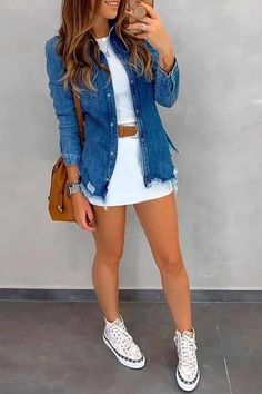 Komplette Outfits, Skirt Outfits, Spring Outfits, Fashion Outfits, Cute Comfy Outfits, Classy Outfits, Stylish Outfits, Boho Bluse, Look Blazer
