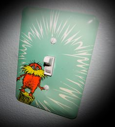 custom dr Seuss lightswitch and outlet covers. Match your nursery or home decor.. $6.00, via Etsy.