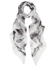 Skull print scarf for a goth summer
