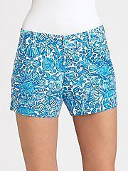 NWT $64 Lilly Pulitzer Callahan Shorely Blue Sailor Valentine Mini 32376 Shorts