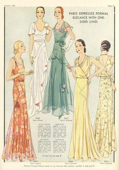 Pictorial Patterns, Summer 1931 - from Patou, Chantal and Lucien Lelong