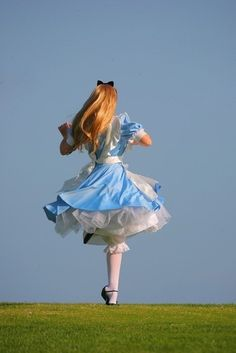Alice, running off into the blue