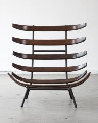 Rare lounge chair by Carlo Hauner and Martin Eisler