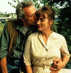 THE BRIDGES OF MADISON COUNTY A lonely housewife (Meryl Streep) has a passionate four-day affair with a National Geographic photographer (Clint Eastwood) in town to photograph those titular bridges. (Starring: Meryl Streep and Clint Eastwood; Clint Eastwood, Deborah Kerr, Richard Gere, Film D'animation, Film Serie, Meryl Streep, Love Movie, Movie Tv, Movie Photo