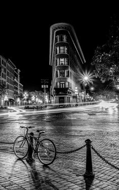Europe Hotel building in Gastown, Vancouver, Canada by Kim Rogerson on 500px (b & w)