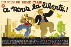 French poster for À NOUS LA LIBERTÉ (René Clair, France, 1931)