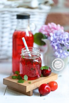 Portion: 8 PeoplePreparation: 5 min Cooking: 30 minHello Dear Friends,Full Red plum time is right now, both taste and color is great. Plum Juice, Puffed Rice, Red Plum, Juice Concentrate, Turkish Recipes, The Secret, Beverages, Drinks, Strawberry