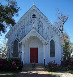 St Mary's Episcopal Church in Milton, Florida is an example of Carpenter Gothic Architecture.