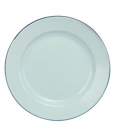 Take a look at this Sea Glass Enamelware Dinner Plate by C.R. Gibson on #zulily today!