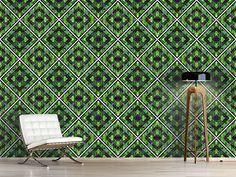 Design #Tapete Kacheln Im Tropenhaus