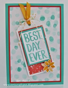 Stampin' Up! - Best Day Ever - Sale-a-Bration Freebie! Teri Pocock - http://teriscraftspot.blogspot.co.uk/2014/12/best-day-ever-sale-bration-freebie.html