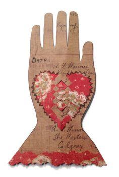 Heart in Hand, Folk Art, Primitive Heart, Scherenschnitte, Paper Cutting, Valentine Heart