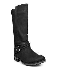 Look what I found on #zulily! Black Buckle Emilio Boot #zulilyfinds