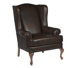 Bombay & Co, Inc.::LIVING::Milhouse Wingback Chair - Winston Russet