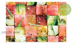 Favorite Party Pins: Watermelon Salad #eatmorewatermelon