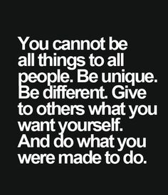 Be Unique Be Different – Inspirational Quote