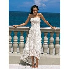 Beach wedding dress. I would wear it barefoot on the sand.