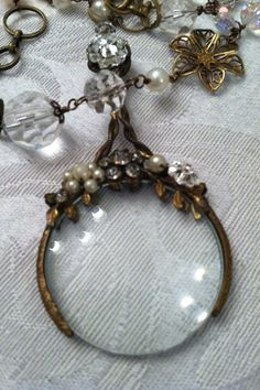 Victorian Magnifying Glass Necklace by Jeelana on Etsy, $92.00