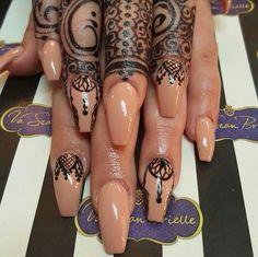 Henna Inspired Acrylic Nails