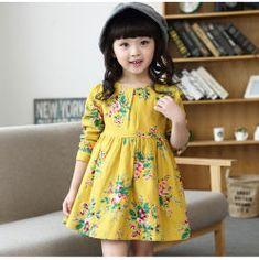 Girls' Clothing (Sizes 4 & Up) Kids Girls Dress Long Sleeve Cotton Floral Tutu Dress Princess Dress Kids Cloth