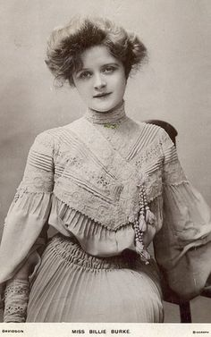 Glenda the Good Witch- Miss Billie Burke. The Great Ziegfeld, Glenda The Good Witch, Billie Burke, Victorian Women, Silent Film, Vintage Pictures, Vintage Photography, American Actress, Vintage Fashion