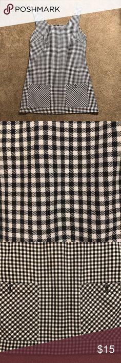 Vintage plaid dress Vintage black and white plaid pull over/dress. Size L Dresses